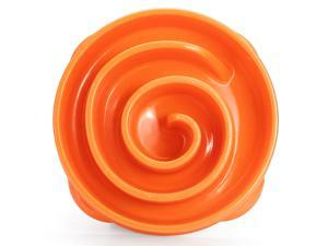 Dog Bowl Slow Feeder Pet Slow Food Bowl Anti-mite Coral Shape Healthy Durable Non-slip Bowl Products for Dogs Large Size Orange