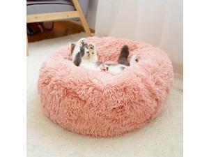 Round Pet Bed South Korea Plush Pink 70 cm Diameter Round Bed