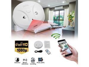 Smart Wireless WIFI+APP Fire Smoke & Temperature Sensor Wireless Smoke Temperature Detector with Hidden Camera Home Security Alarm System