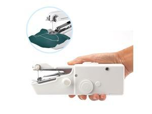 Mini Portable Electric Hand-held Cordless Fast Sewing Machine(White)