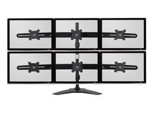 Amer Mounts Stand Based Hex Monitor Mount For Four 15-24