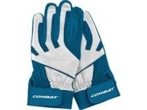 1 Pr Combat JM26 Signature J. McCraw Navy / White X-Large Adult Batting Gloves