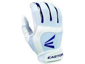 1 Pair Easton Stealth Core X-Large White / Royal Fastpitch Womens Batting Gloves