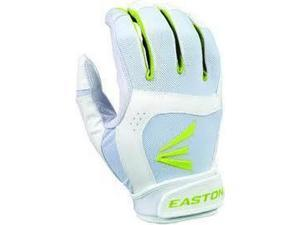 1 Pair Easton Stealth Core X-Large White / Optic Fastpitch Womens Batting Gloves