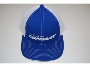 Combat Royal Blue / White Trucker Hat Size Small / Medium Fits 6 7/8 - 7 3/8