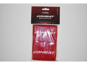"1 Pair Combat 4"" Red Wristbands New In Wrapper!"