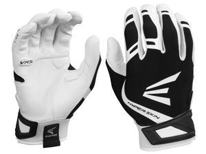 1pr Easton ZF7 VRS Hyperskin Womens Medium White/Black Fastpitch Batting Gloves