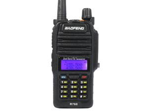 62732b145 Baofeng BF-R760 Black 5-Watt Dual Band Two-Way Radio Waterproof Walkie