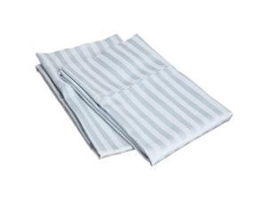 Impressions 300SDPC STLB 300 Standard Pillow Cases, Egyptian Cotton Stripe - Light Blue