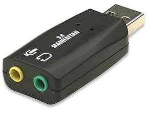 MANHATTAN HI-SPEED USB 2.0 3-D SOUND ADAPTER IMPROVES AUDIO ACCESS AND PERFORMAN
