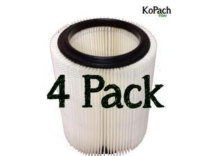 Craftsman / Ridgid Wet/Dry Generic Vac Filter 4 Pack Bulk