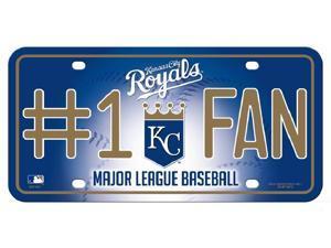 Kansas City Royals #1 Fan Metal License Plate