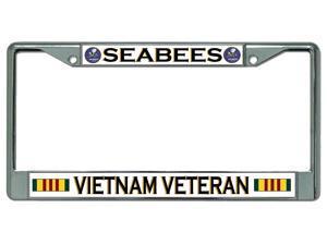 Seabees Vietnam Veteran #2 Chrome License Plate Frame