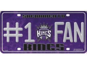 Sacramento Kings #1 Fan Metal License Plate