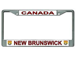 Canada New Brunswick Chrome License Plate Frame