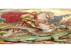 St. George the Dragon Slayer Photo License Plate
