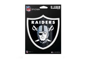 Oakland Raiders Die Cut Metallic Sticker