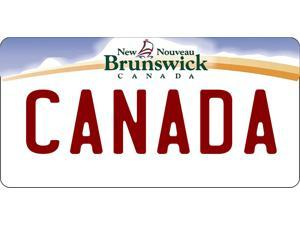 New Brunswick Canada Photo License Plate