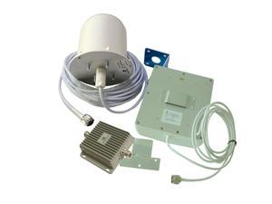 Signalbox 65dB 850/1900MHz GSM CDMA Dual Band Cell Phone Signal Repeater Mobile Phone Signal Repeater with Omni-directional Antennas High Gain 1000 square meters