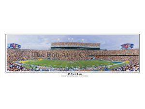 """LSU Tigers Death Valley,  Baton Rouge, LA """"45 Yard Line"""" - NCAA Collage Football 13.5x39 Unframed Panoramic Poster #5017"""