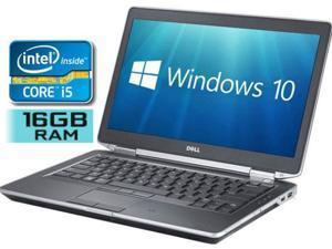 "DELL Laptop E6430 Intel Core i5 3rd Gen 3320M (2.60 GHz) 16 GB Memory 320 GB HD 7200rpm Intel HD Graphics 4000 14.0"" Windows 10 Pro 64-Bit"