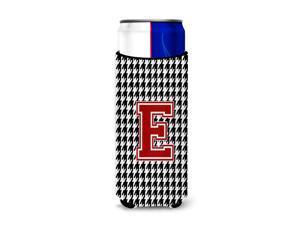 Monogram - Houndstooth  Letter E Ultra Beverage Insulators for slim cans CJ1021-EMUK