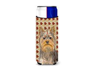 Fall Leaves Yorkie / Yorkshire Terrier Ultra Beverage Insulators for slim cans KJ1205MUK