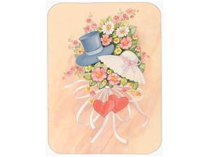 Love Valentine's Day Bouquet Glass Cutting Board Large APH2039LCB