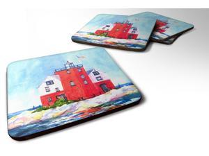 Set of 4 Lighthouse on the rocks Harbour Foam Coasters