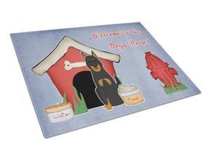 Dog House Collection Beauce Shepherd Dog Glass Cutting Board Large BB2834LCB