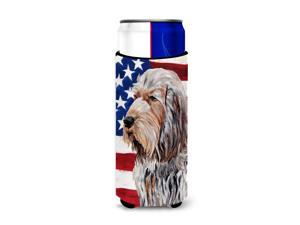 Otterhound with American Flag USA Ultra Beverage Insulators for slim cans SC9636MUK