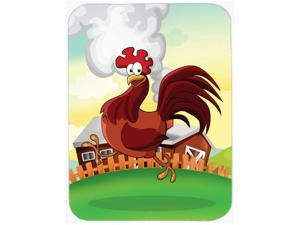 Rooster Chicken on the Run Glass Cutting Board Large APH7630LCB