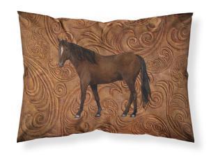 Carolines Treasures SB3076PILLOWCASE Home Sweet Home Moisture Wicking Fabric Standard Pillowcase Large Multicolor