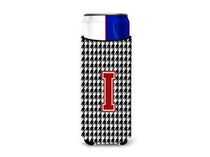 Monogram - Houndstooth  Letter I Ultra Beverage Insulators for slim cans CJ1021-IMUK
