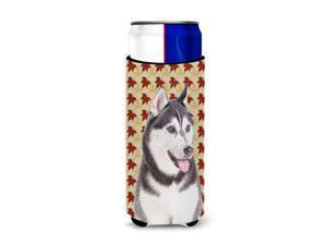 Fall Leaves Alaskan Malamute Ultra Beverage Insulators for slim cans KJ1203MUK
