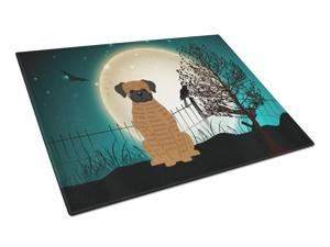Halloween Scary Brindle Boxer Glass Cutting Board Large BB2307LCB