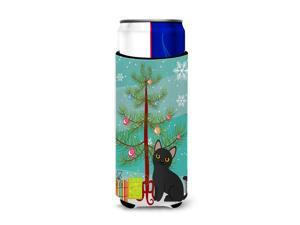 Bombay Cat Merry Christmas Tree Michelob Ultra Hugger for slim cans BB4417MUK