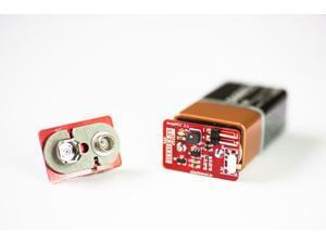 snapVCC 3.3/5 V Regulator - Snaps onto 9V Battery
