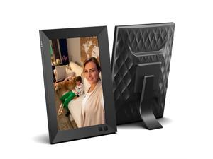 NIX 8 Inch USB Digital Photo Frame - Portrait or Landscape Stand, HD Resolution, Auto-Rotate, Magnetic Remote Control
