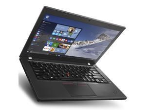 "Lenovo Grade A ThinkPad T460 Laptop - Intel Core i5 6th Gen 6200U (2.30 GHz) 16GB Memory 240GB SSD 14.0"" WebCam Windows 10 Pro 64-Bit"
