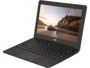 "DELL 11 3120 Chromebook - Intel Celeron N2840 2.16GHz, 4 GB Memory, 16 GB SSD, 11.6"" (1366x768), WebCam, BT 4, 802.11 AC, Chrome OS - Grade B"
