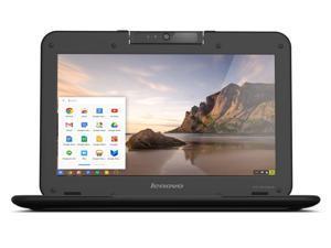 "Lenovo N21 11.6"" Chromebook Laptop, Intel N2840 2.16GHz Dual-Core, 16GB Solid State Drive, 2GB Ram, 802.11ac, ChromeOS - Wear/Tear"