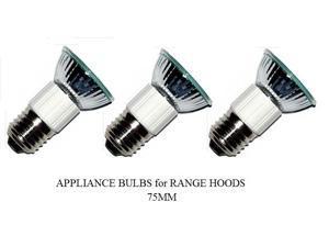 Pack of 3, LSE Lighting Z0B0011 50W JDR E27 75mm Range Hood Bulbs