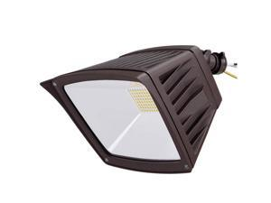 LEONLITE 40W LED Flood Light, 350W Equivalent, Outdoor Security Light, ETL Listed, 4800 Lumens, IP65 Waterproof, 5000K Daylight