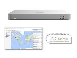 Cisco Meraki MX64 Router Security Appliance Bundle with 1 Year License Bundle