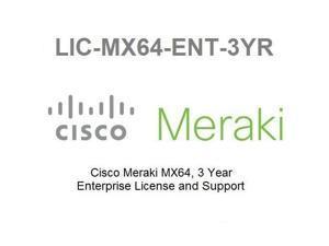 Meraki MX64 Enterprise Meraki License 3 Year LIC-MX64-ENT-3YR