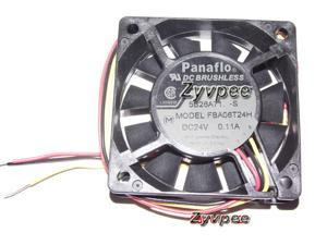 Zyvpee Panaflo 60*15mm FBA06T24H 24V 0.11A 3 wires 6cm inverter cooling fan