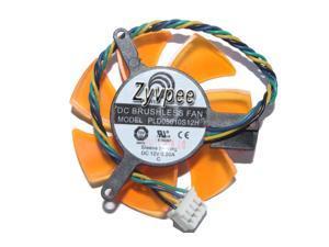 VGA Cooling Fan DC12V 0.2A 4 Wires 4 Pins frameless graphics card fan for ZOTAC 8500GT 8600GT 9400GT 9500GT GT210