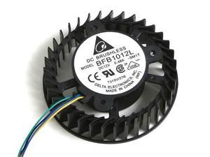 DC Circular Cooler of Delta BFB1012L with 12V 0.48A 4-Wires
