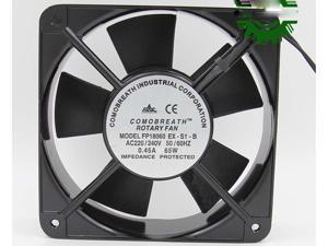 Square ROTARY FP18060 EX-S1-B  AC Axial Fan with Ball Bearing AC 220/240V 50/60Hz 0.45A 65W 2 Wires aluminium alloy Frame